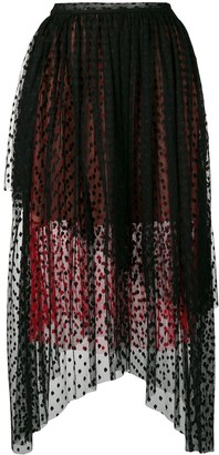 Christopher Kane Dot Tulle Gathered Skirt