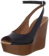 Marc by Marc Jacobs Women's Ankle Strap Slingback Peep-Toe Wedge Sandal