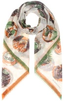 Burberry Pallas Heads printed cotton scarf
