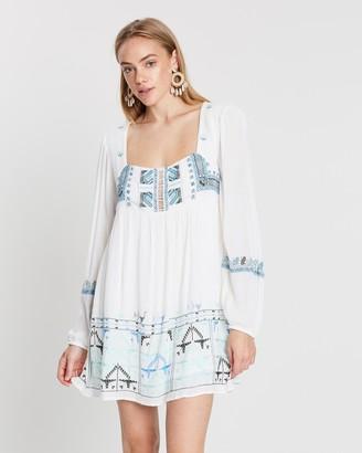Free People Rhiannon Embroidered Mini Dress