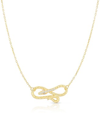 Sphera Milano 14K Gold Plated Sterling Silver Snake Necklace