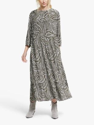 AND/OR Zadie Animal Print Maxi Dress, Khaki Mix