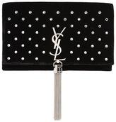 Saint Laurent Kate Velvet Bag W/ Tassel And Crystals