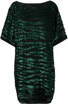 P.A.R.O.S.H. sequin zebra T-shirt dress