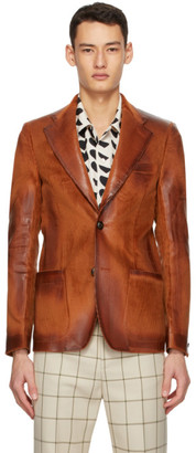 Marni Orange Corduroy Waxed Blazer