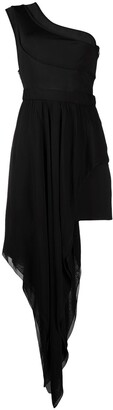 Just Cavalli Draped One-Shoulder Dress