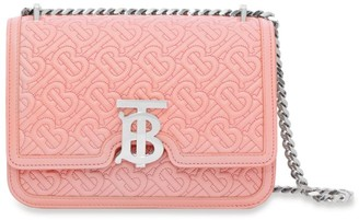 Burberry Small Leather Quilted TB Monogram Bag