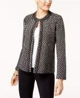 JM Collection Jacquard Flyaway Cardigan, Created for Macy's