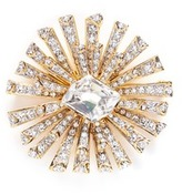 Kenneth Jay Lane Glass crystal gold plated starburst brooch