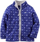 Carter's Print Microfleece Jacket (Baby) - Purple/White-24 Months