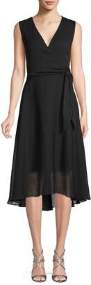 Karl Lagerfeld Paris High-Low Self-Tie A-Line Dress