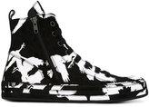 Ann Demeulemeester printed hi-top sneakers