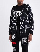 Kokon To Zai Lightning-print cotton-jersey hoody