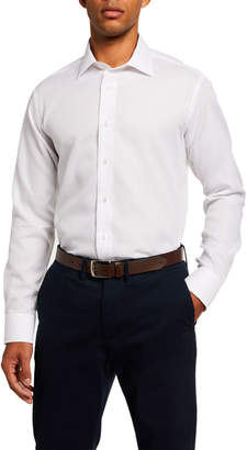 Neiman Marcus Men's Modern-Fit Woven Sport Shirt