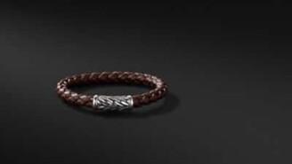 David Yurman Chevron Rubber Weave Bracelet In Brown, 8Mm