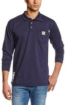 Carhartt Men's Big & Tall Flame Resistant Force Cotton Long Sleeve Polo