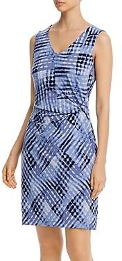 Nic+Zoe Cross Over Twist Printed Dress