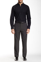 Louis Raphael Brushed Micro Houndstooth Tailored Modern Fit Pant