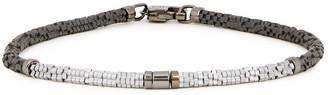 Tateossian Large silver-tone and gunmetal beaded bracelet