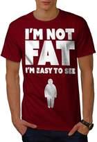 I'm Not Fat Easy See Funny Joke Men NEW XXXL T-shirt | Wellcoda