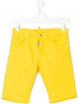 DSQUARED2 denim shorts - kids - Cotton/Spandex/Elastane - 14 yrs