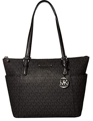 MICHAEL Michael Kors Jet Set Item East/West Top Zip Tote (Black) Tote Handbags