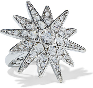 Kenneth Jay Lane Rhodium-plated Crystal Ring