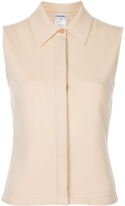 Chanel Pre Owned 2000s Sleeveless Knitted Top