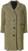 Aspesi houndstooth pattern coat
