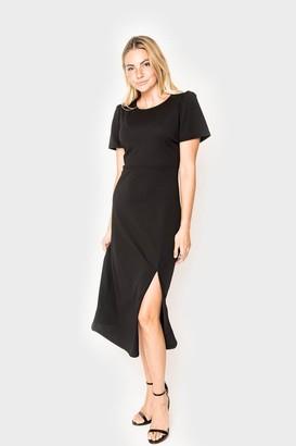 Gibson Puff Sleeve Slit Dress