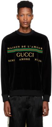 Gucci Black Chenille Maison De Lamour Sweatshirt
