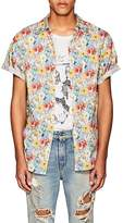 R 13 Men's Floral-Print Cotton Skater Shirt