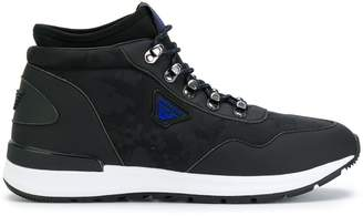 Armani Jeans lace-up hi-top sneakers