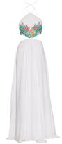 Mara Hoffman Gauze-embroidered halterneck dress