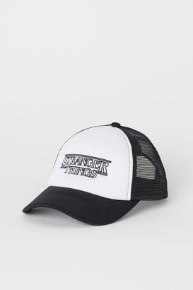 H&M Cap with Printed Design - White