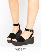 Asos TAKE OFF Wide Fit Flatform Sandals