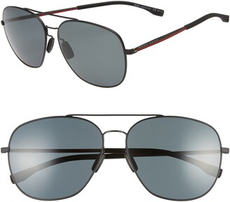 BOSS 62mm Polarized Special Fit Aviator Sunglasses