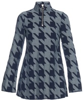 Marques Almeida MARQUES'ALMEIDA High-neck hound's-tooth denim mini dress