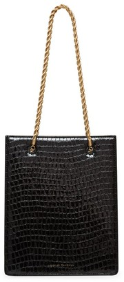 Loeffler Randall Antoinette Croc-Embossed Leather Shopper Tote