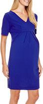 Asstd National Brand Maternity Elbow-Sleeve Dress - Plus