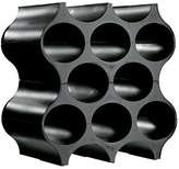Koziol SET-UP Bottle Rack / Wine Rack, one set of 4 pieces, modular, solid black