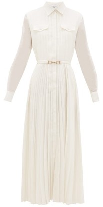 Gabriela Hearst Erella Pleated Silk-blend Shirt Dress - Ivory