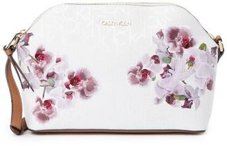 Calvin Klein Janae Signature Top Zipper Crossbody Bag