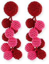 Sachin + Babi Two-Tone Coconut Beaded Clip Eearings