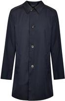 Corneliani Dark Blue Water-resistant Herringbone Coat