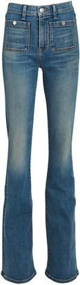 Veronica Beard Florence Flared High-Rise Jeans