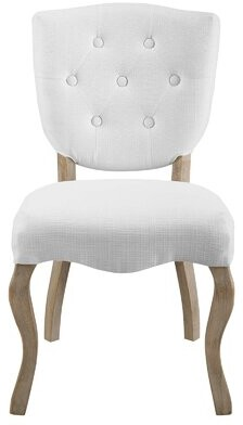 Ophelia Damarion Tufted Upholstered Side Dining Chair & Co. Color: White