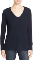 Autumn Cashmere Women's Shaker Stitch Cashmere V-Neck Sweater