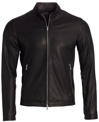 Theory Morveck Leather Bomber Jacket