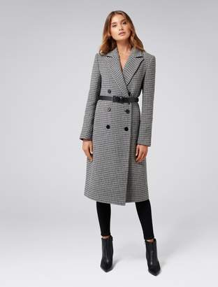 Ever New Isla Belted Check Coat